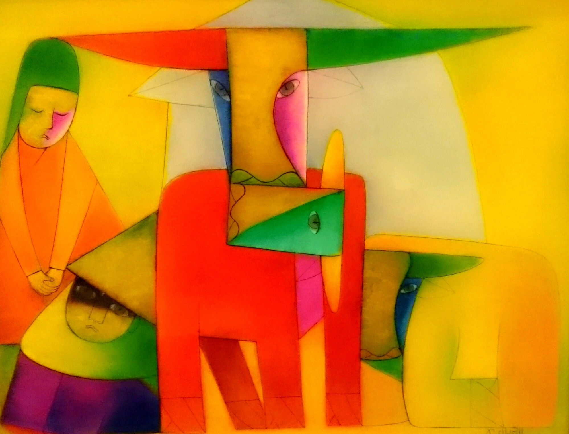 Thanh Chuong || Stick Together || Lacquer on wood | Vietnam artist ...