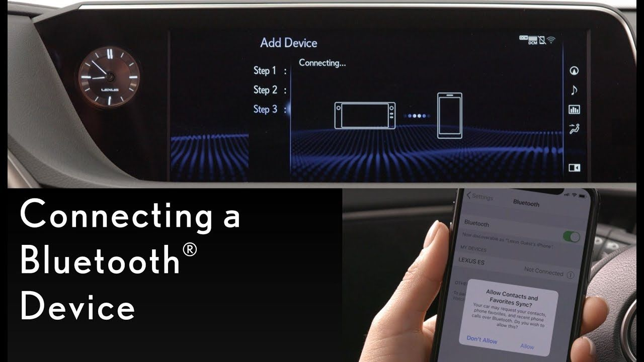 How To Connect To Your Bluetooth Device Lexus Lexus Bluetooth Device Devices