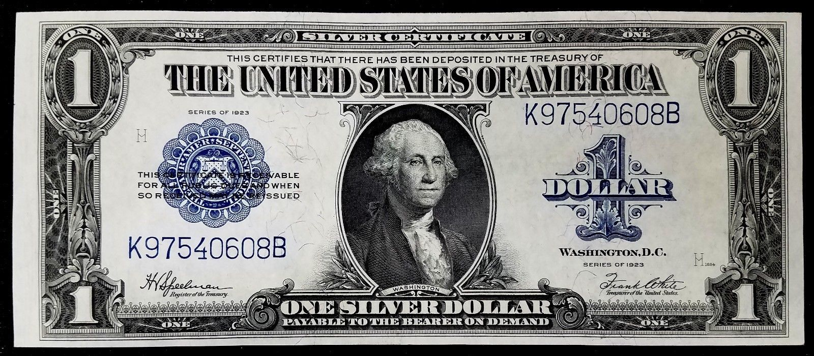 Series Of 1923 100 Silver Certificate Bold Colors Fr 237