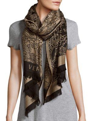 3d2bc7f46d0 VERSACE Medusa Head Brocade Wool Scarf.  versace  scarf