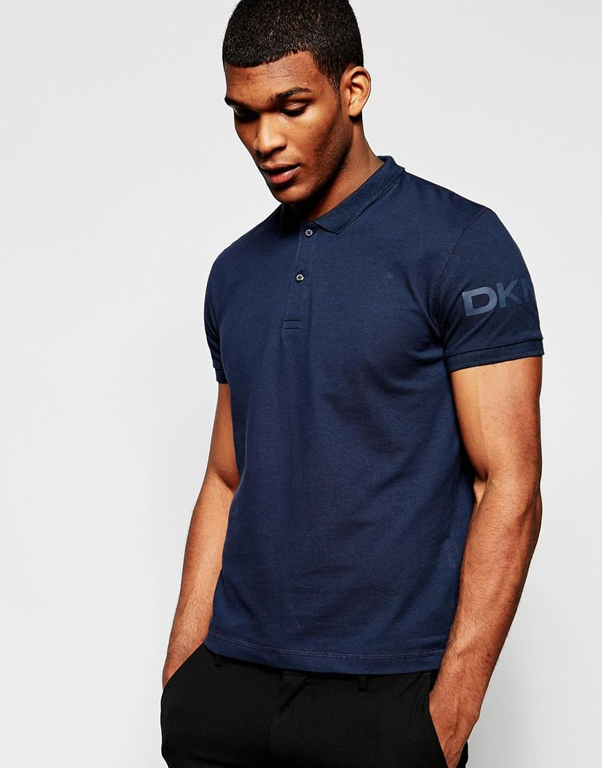 Image 1 Of Dkny Polo Shirt Sleeve Logo Mens Style 6 10 Nowhere Man