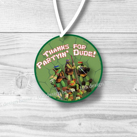 INSTANT DOWNLOAD Teenage Mutant Ninja Turtles Favor Tag - TMNT party - Ninja Turtle Party - Ninja Turtle Favor Tag - Ninja Turtle Gift Tag by 105DesignHouse