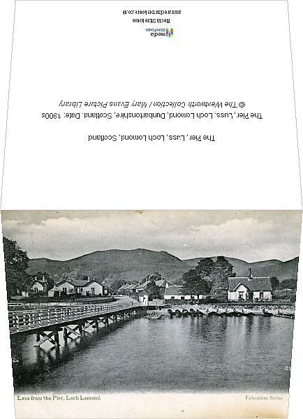 Greetings Card-The Pier, Luss, Loch Lomond, Scotland-6x8 inch Greetings Card made in the UK