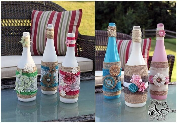 decorated glass bottles. Creative Ways to Decorate Glass Bottles  Hobbies and crafts