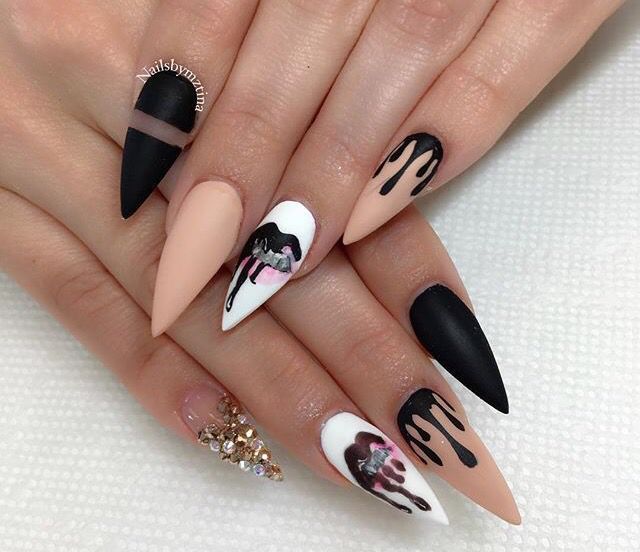 Black Drip Nails Nail Designs We Love In 2018 Pinterest Drip