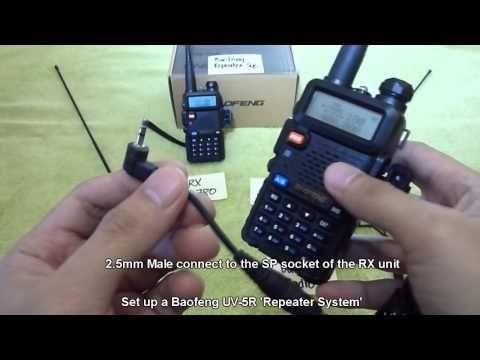 Set up a Baofeng UV-5R Repeater System - YouTube   Radio   Ham radio