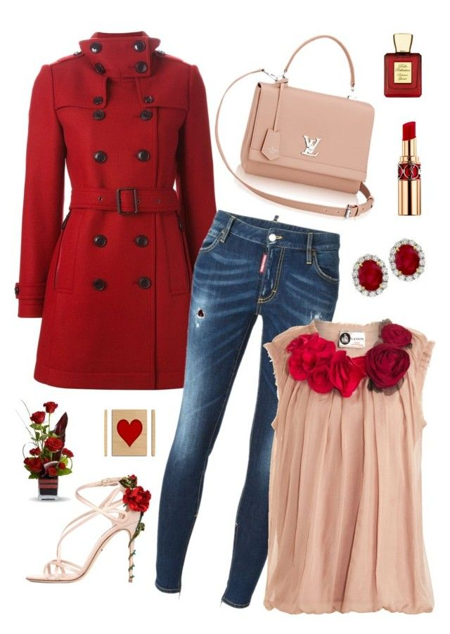 """Untitled #190"" by maurogianni-za ❤ liked on Polyvore featuring Burberry, Dsquared2, Lanvin, Dolce&Gabbana, Yves Saint Laurent and Bella Bellissima"