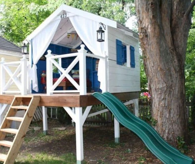 45 Budget Friendly Diy Gabion Ideas Hajar Fresh Tree House Diy Tree House Kids Backyard Treehouse