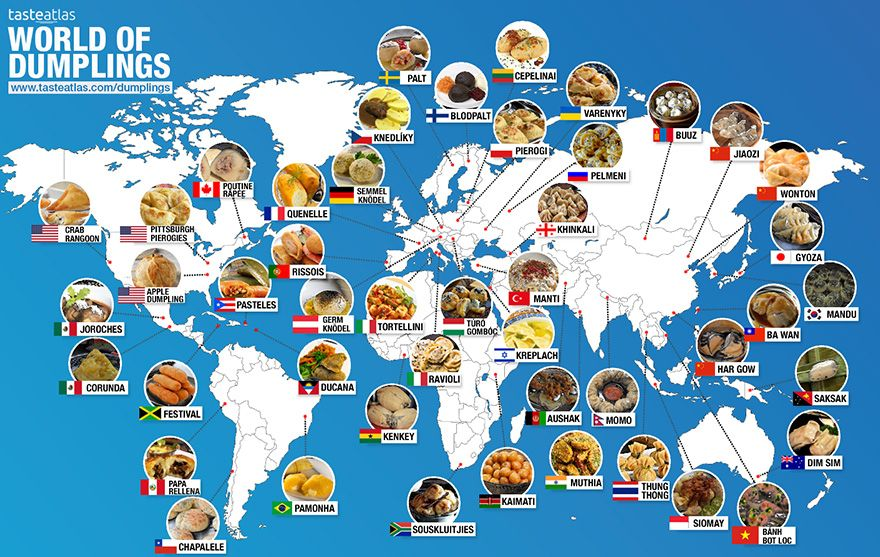 30 maps reveal the tastiest dishes around the world mapa