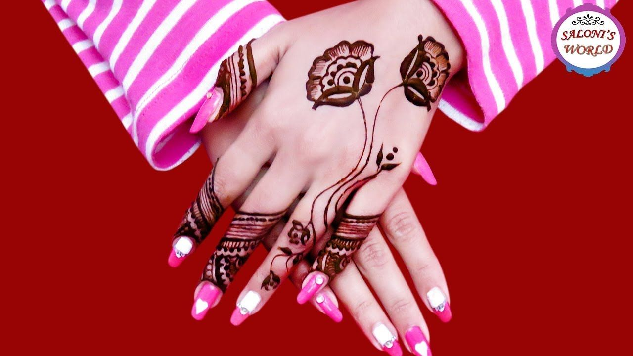 Easy Rose Flower Back Hand Mehndi Designs For Hands Henna Tutorial By Henna Tangan Mehndi Designs Henna