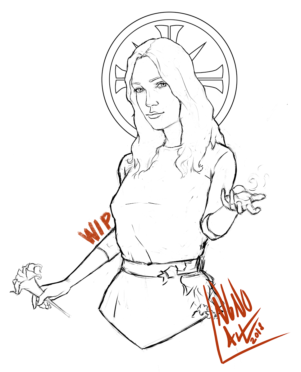 New Work In Progress Featuring Faith Seed Support Me In My Ko Fi Page Ko Fi Com Angian Far Cry 5 Faith Fan Art