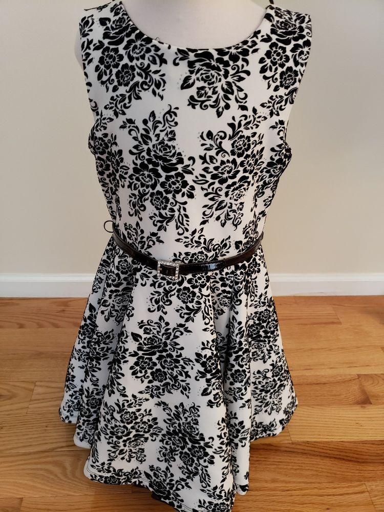 Black and White Dresses Girls Size 12