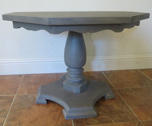 Small Table Makeover - Painted Furniture Ideas #furnitureredos
