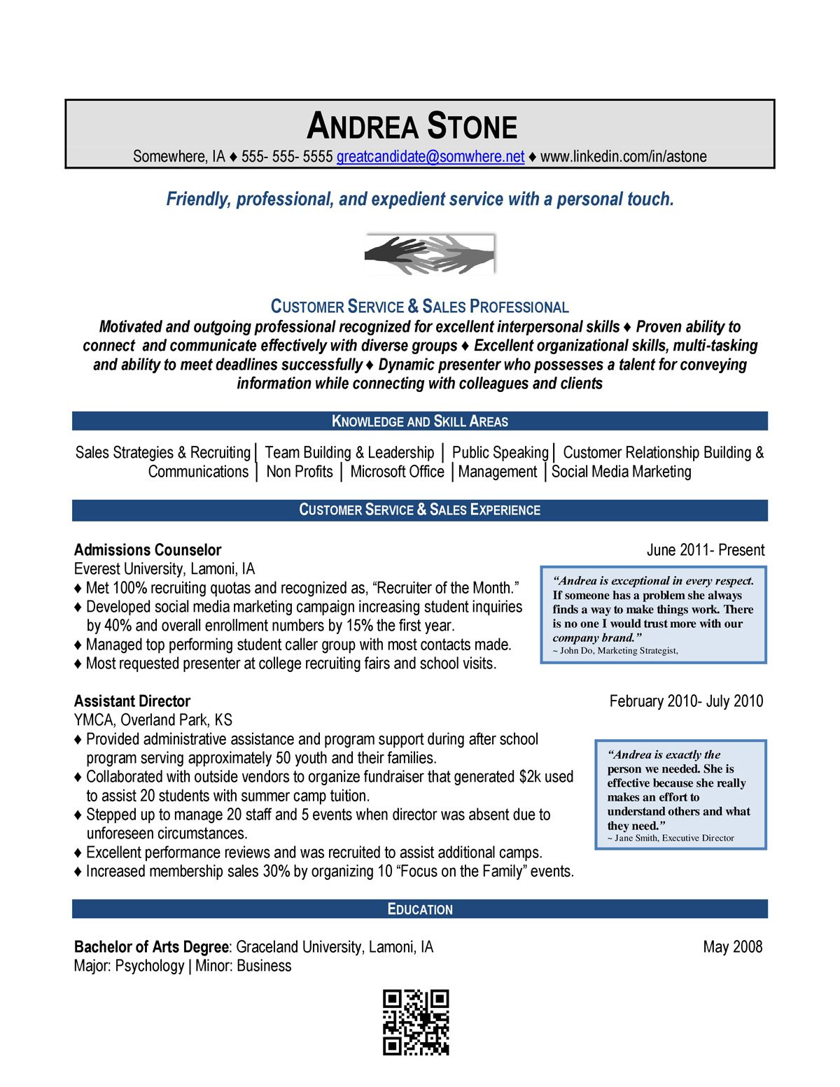 Sample Resume Recruiter A Sample Combination Resume Using Aspects Of Chronological And .