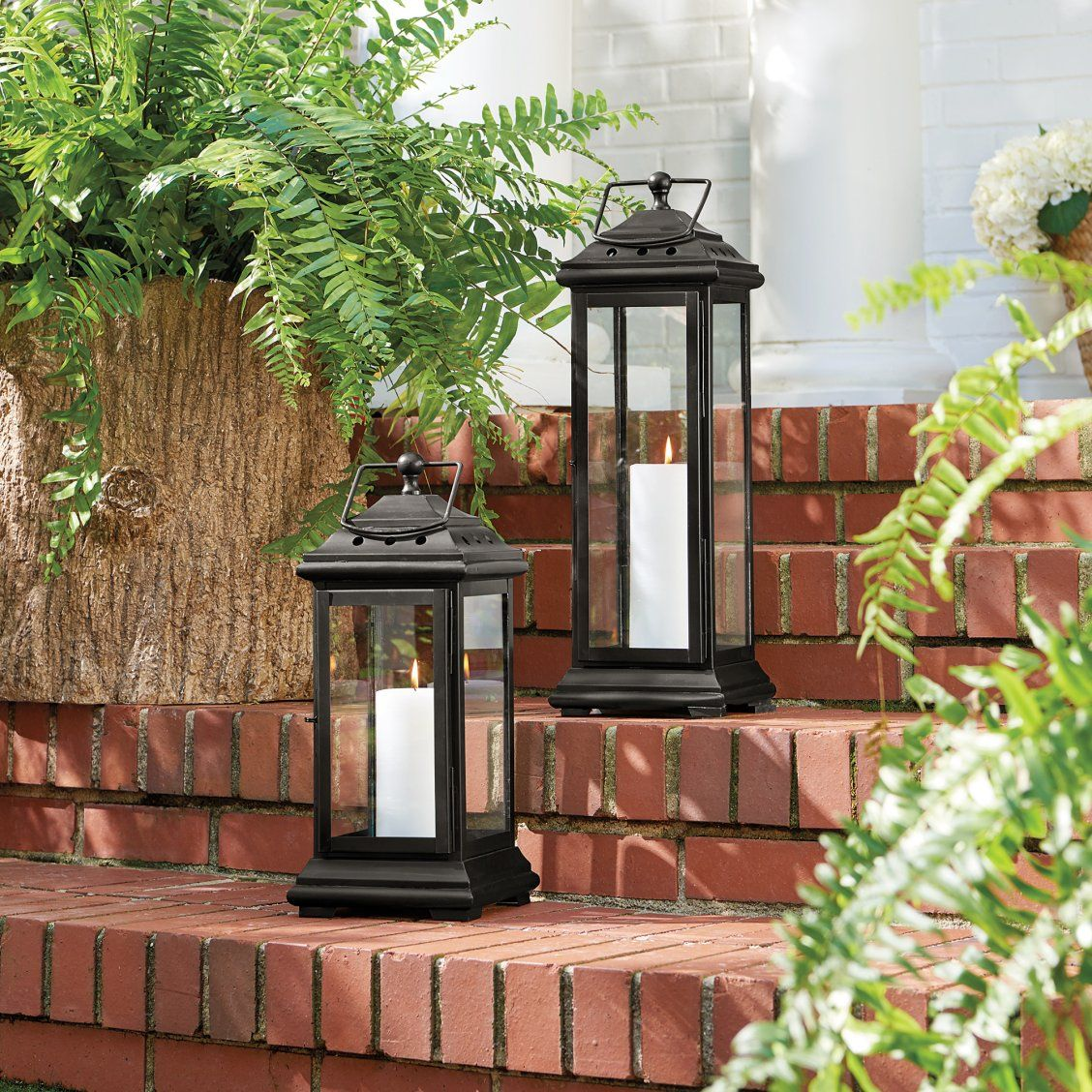 Gas Lanterns Sooo Pretty Instead Of Traditional Front Porch Lights I Love The Way They Exterior Light Fixtures Exterior Wall Light Outdoor Lantern Lighting