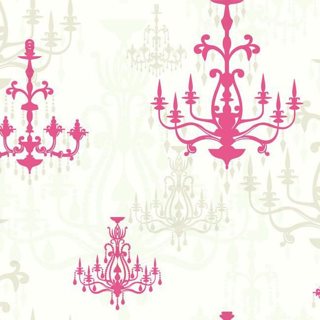 Pink And White Chandelier Wallpaper Pattern Wh2627 From The Book Wallpapher Steve S Collection