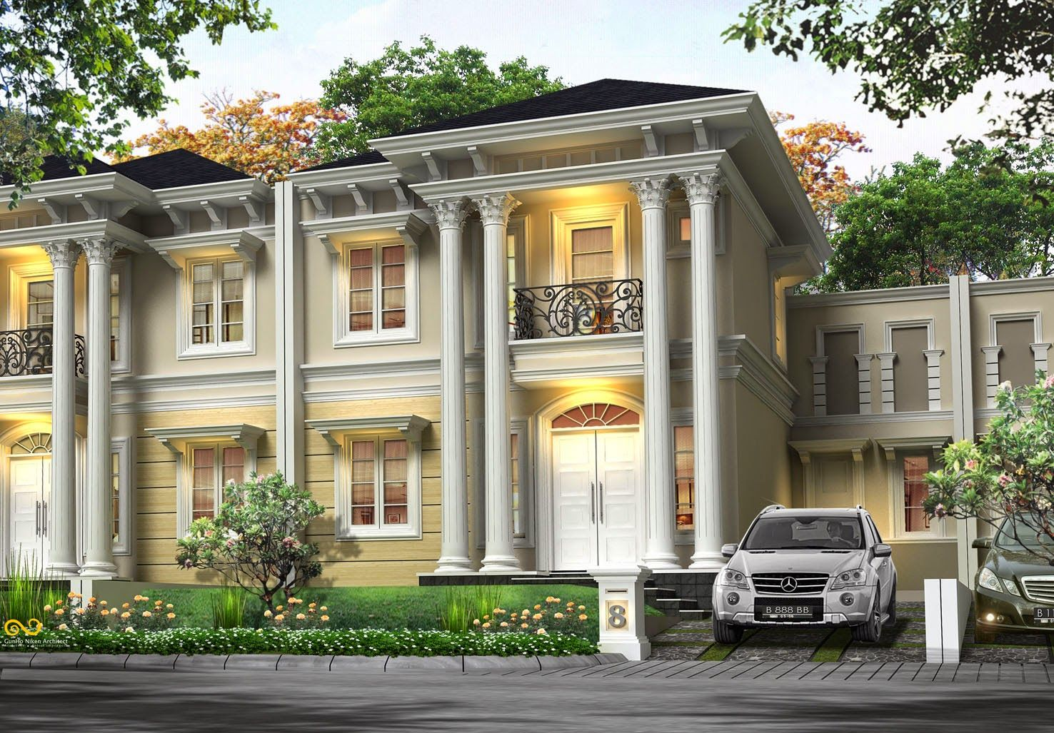 Model Desain Rumah Klasik Mewah Minimalis Yang Menawan Rumah Mewah Desain Rumah Home Fashion