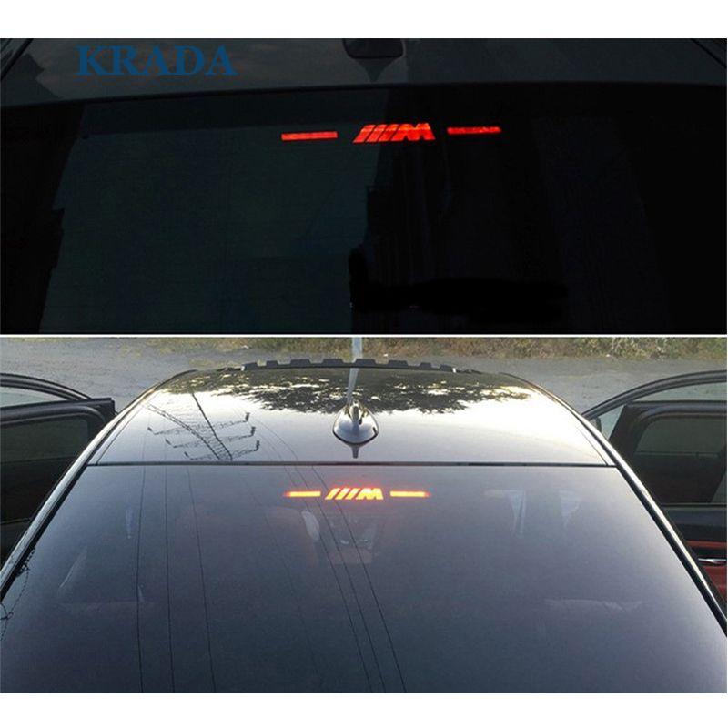 Krada Brake Light Sticker Car Styling For Bmw M Logo E46 E90