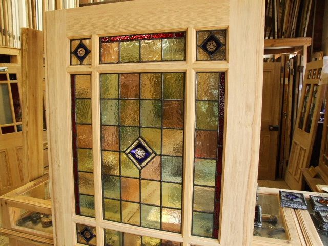 stained glass interior doors for sale - Stained Glass Interior Vestibule Door - Stained Glass Doors