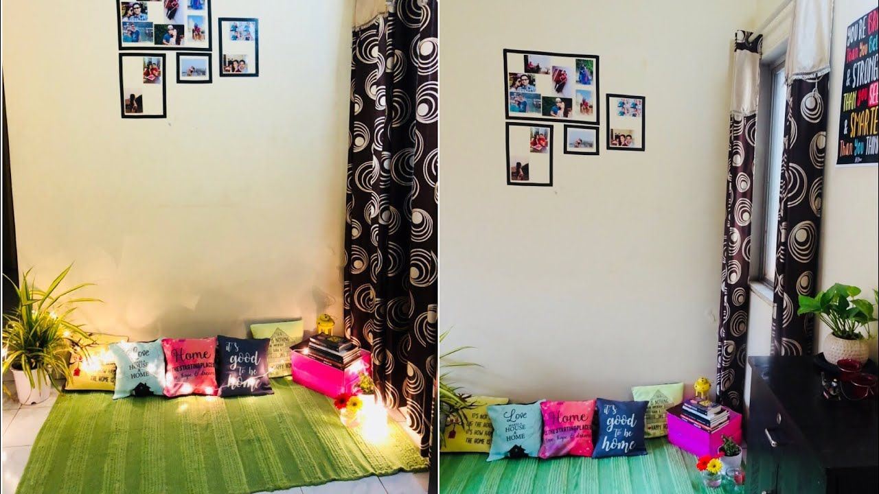 Small Budget Living Room Makeover In 2k Diy Indian Home Decor Ideas Plant Decor Diy Home Dec In 2020 Indian Home Decor Small Apartment Decorating Home Decor