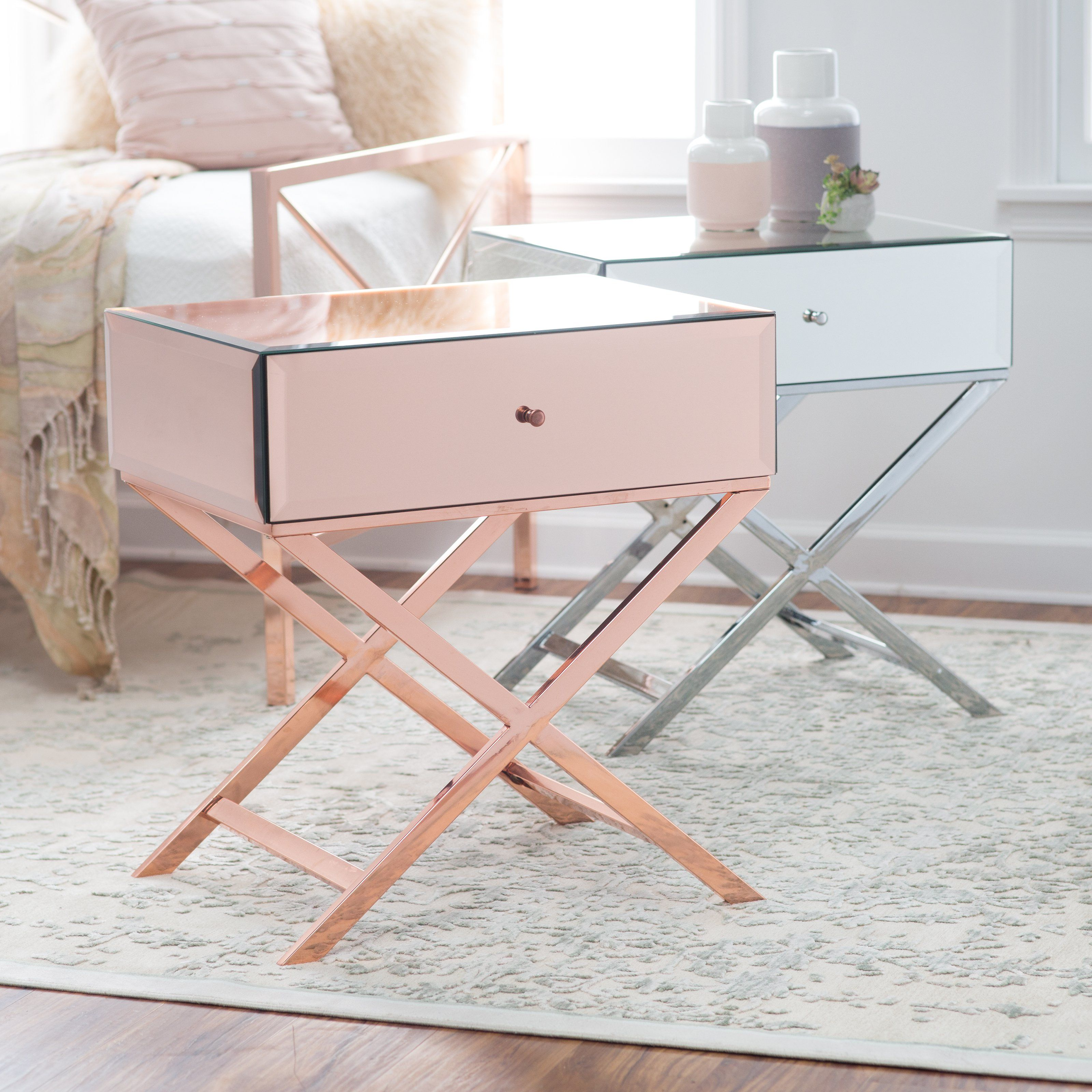 Belham Living Reflection Campaign Table   End Tables At Hayneedle