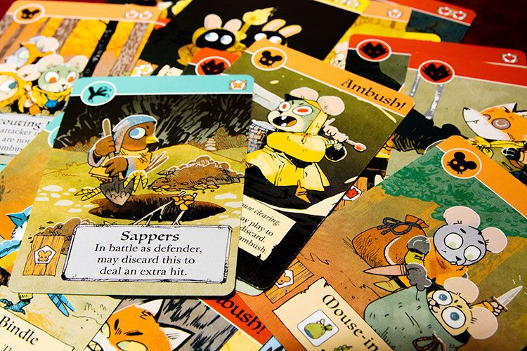 Root board game cards Jeux