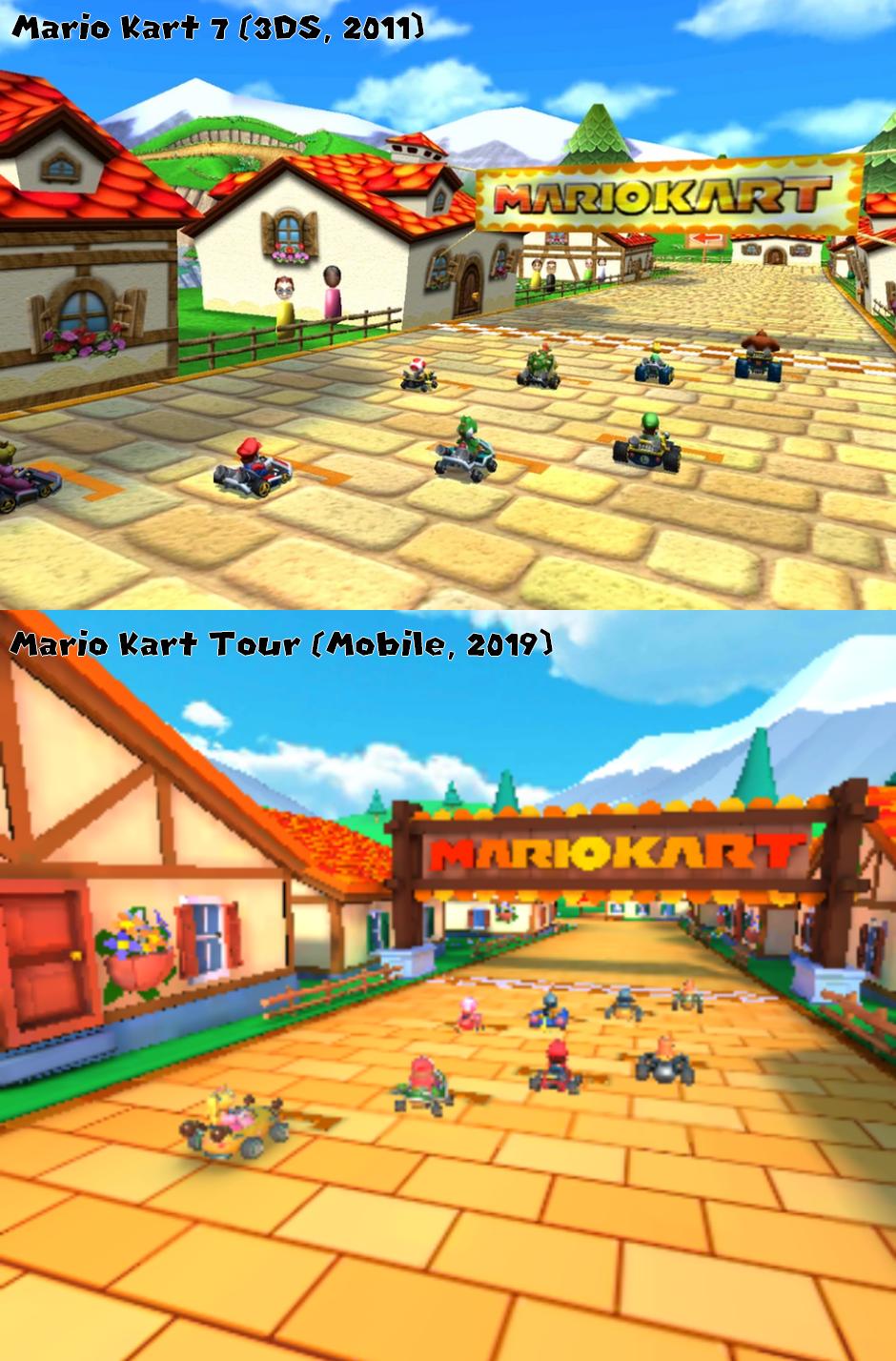 Comparison Between Mario Kart 7 Daisy Hills 1st Pic And Mario Kart Tour Daisy Hills 2nd Pic Which One Do You Prefer Mario Kart 7 Mario Kart Mario