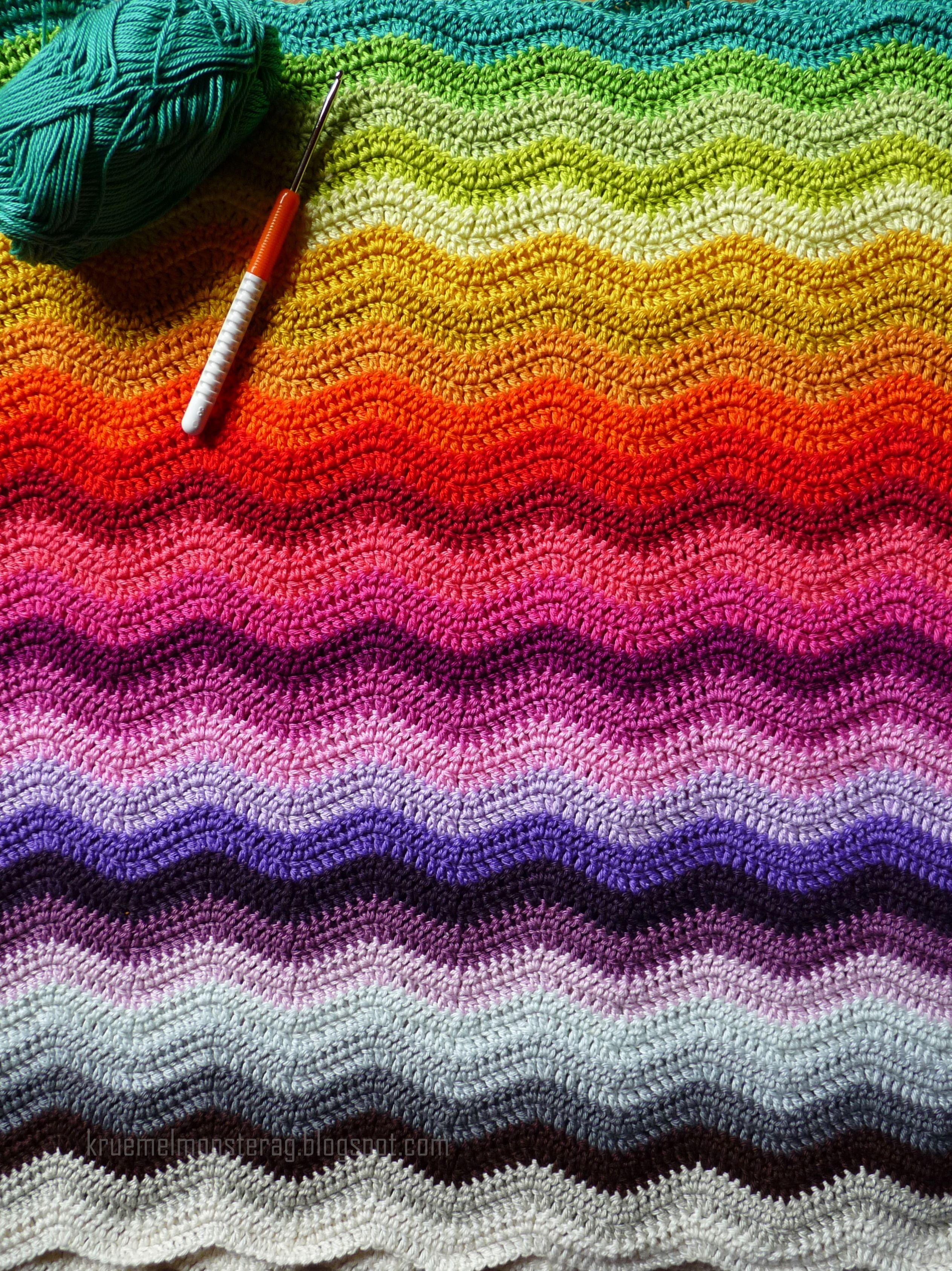 crochet/Point de vagues | crochet | Pinterest | Manta, Tejido y ...