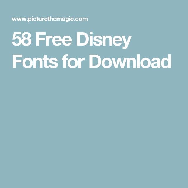 58 Free Disney Fonts | Vinyl | Disney font free, Disney clipart
