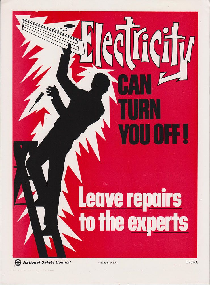 Vintage Workplace Safety Poster 1960s National by