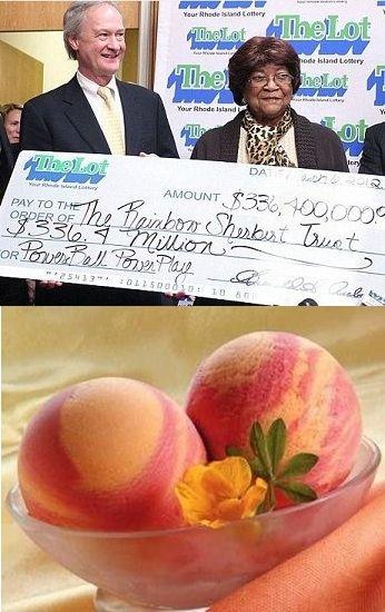"""11 lutego 2012, 81-letnia Louise White, wygrała $336,4 mln w US Powerball. Louise White omal nie udało się zagrać, gdyby jednemu z członków rodziny nie zachciało się lodów, a dokładniej """"Tęczowego Sorbetu"""". Dzięki temu mrożonemu poczęstunkowi Pani White udało się dotrzeć do sklepu i kupić jej dochodowy los na US Powerball."""
