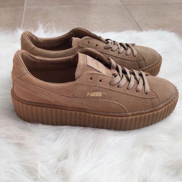 oatmeal fenty puma shoes by rihanna fenty puma pumas shoes and shoes sneakers. Black Bedroom Furniture Sets. Home Design Ideas