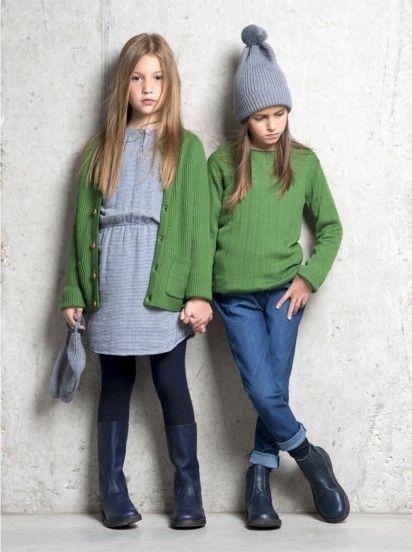 Fub Girls / Boys Persi Jumper in Green | Elias & Grace | ELIAS & GRACE