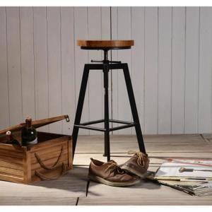 tabouret de bar de peintre sur vis design luxe loft style industriel vintage m tal bois. Black Bedroom Furniture Sets. Home Design Ideas