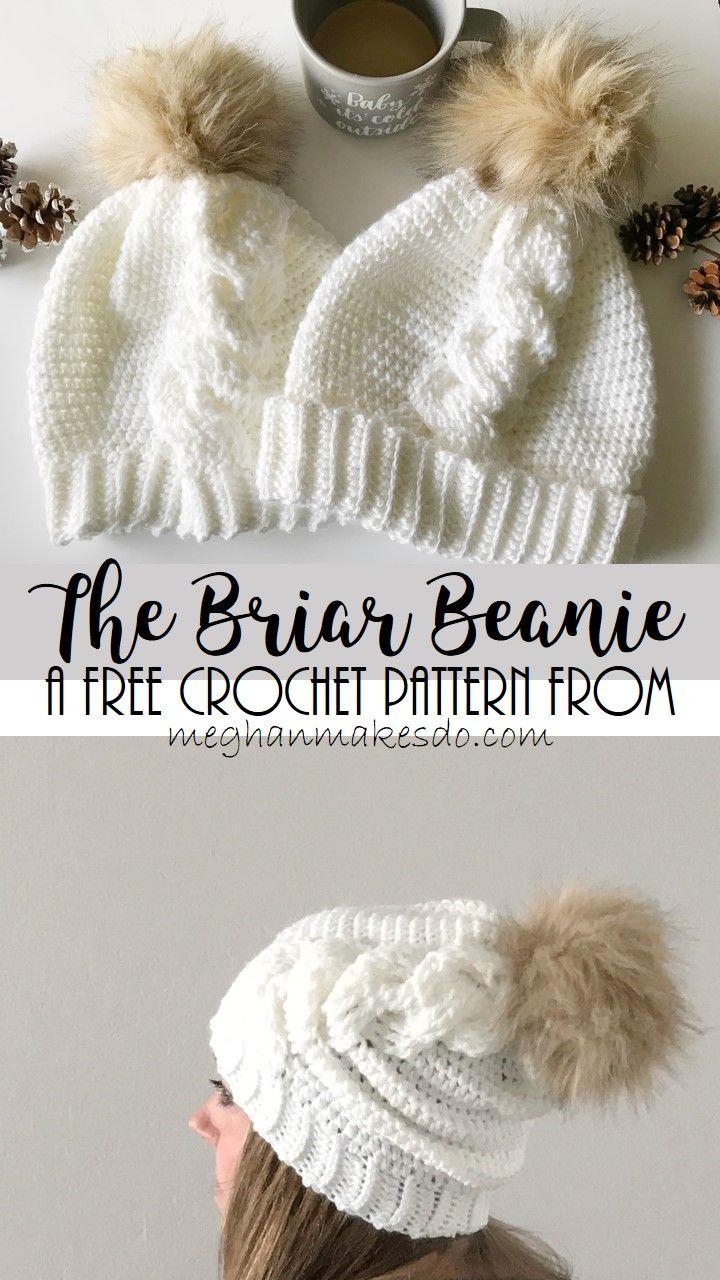 Jan 18 The Briar Beanie- Free Crochet Pattern | Tricot crochet ...