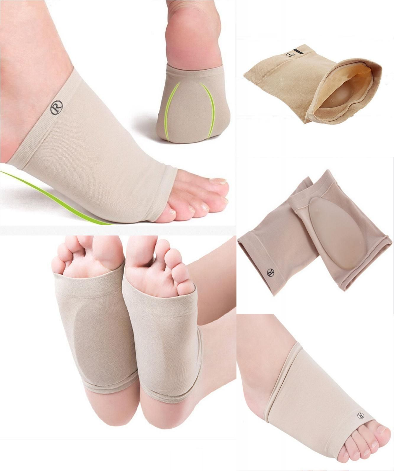 1X Orthotic Arch Support Plantar Fasciitis Brace Sleeves Supports Flat Feet Care