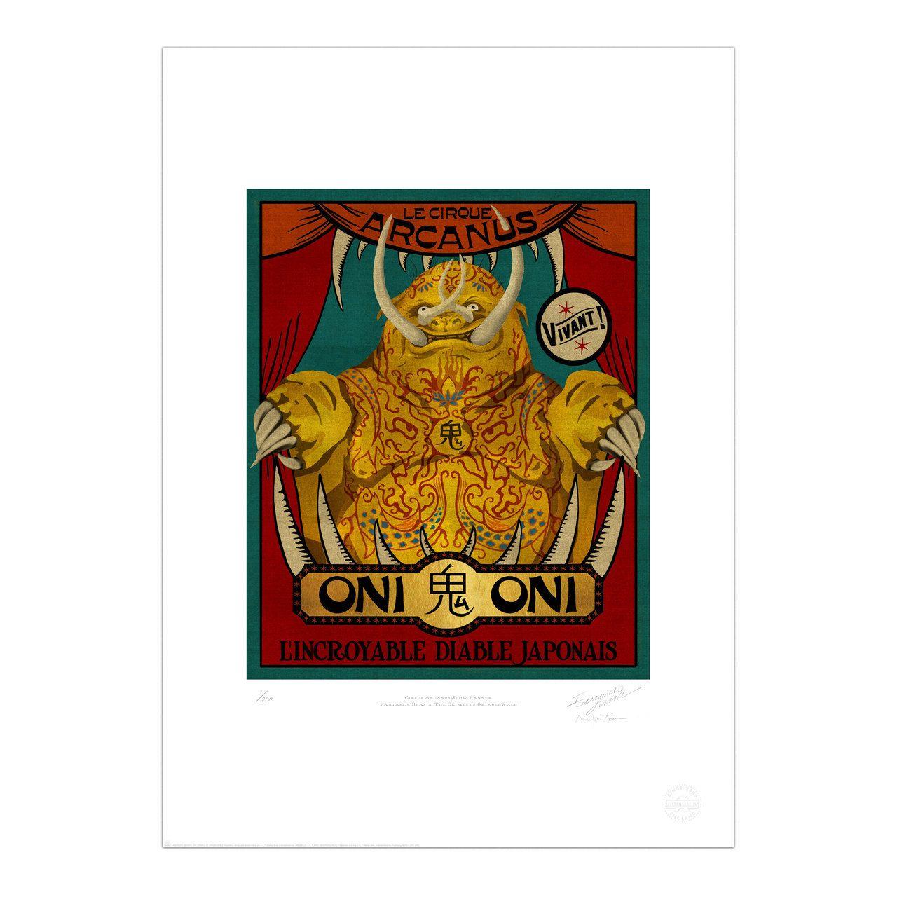 Circus Arcanus Show Banner Oni Limited Edition Print
