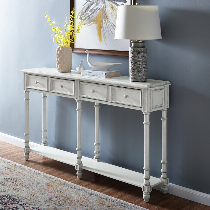 """August Grove Preusser 58"""" Solid Wood Console Table"""
