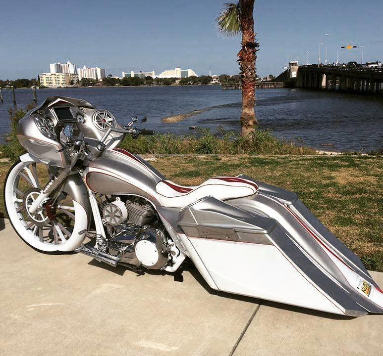 Harley Davidson Road King Accessories Ebay Harleydavidsonroadking Custom Baggers Harley Bikes Bagger