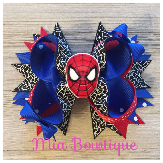 Spiderman el arco del pelo pinza de pelo del hombre araña