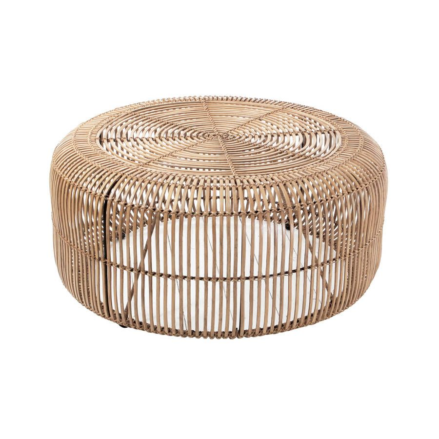 Round Rattan Coffee Table By Out There Interiors Rattan Coffee Table Coffee Table Natural Coffee Table [ 900 x 900 Pixel ]