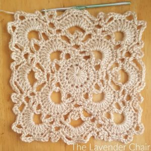 Gemstone Lace Blanket Crochet Pattern - The Lavender Chair
