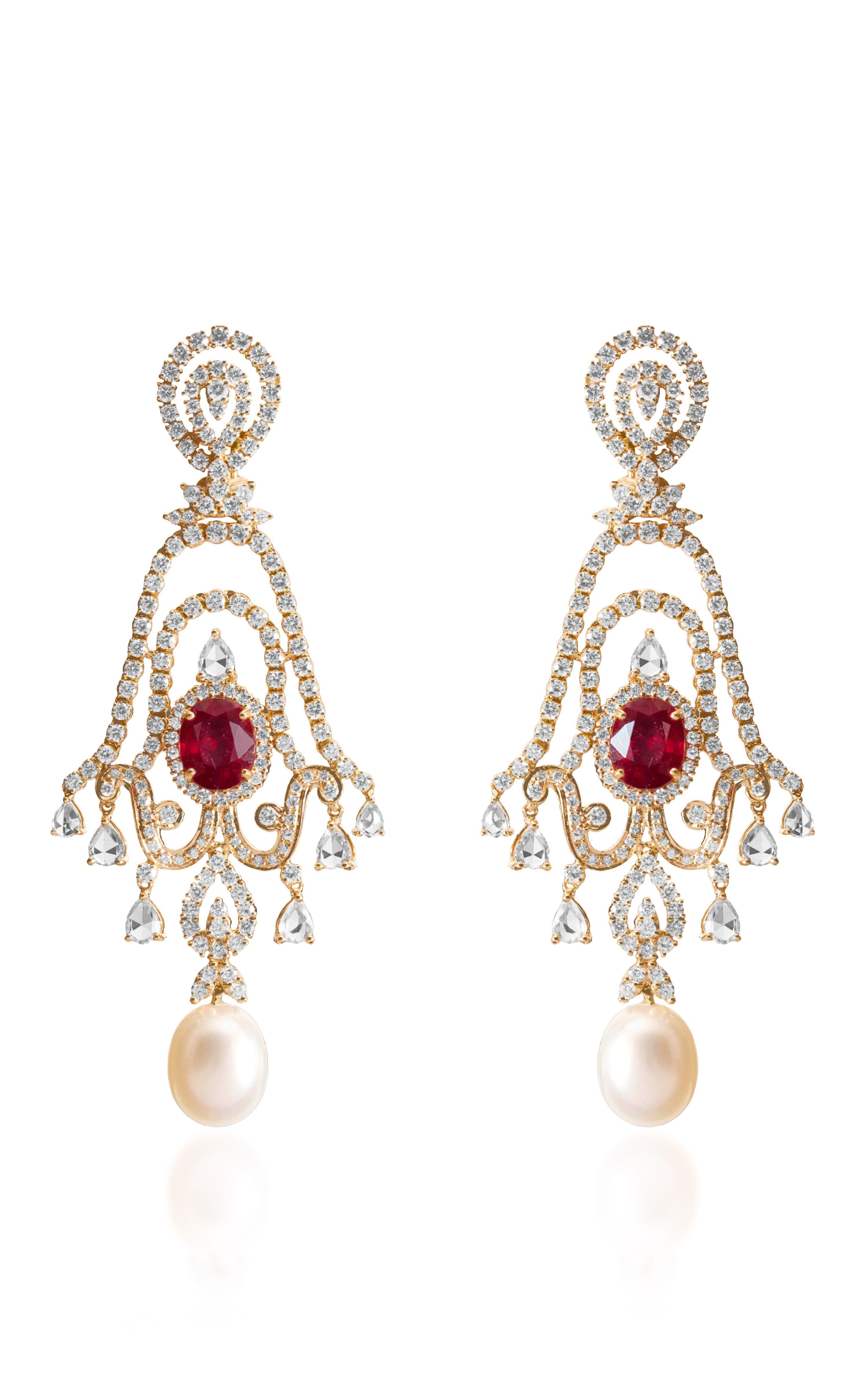 Scarlet Earring by Farah Khan Fine Jewelry for Preorder on Moda Operandi