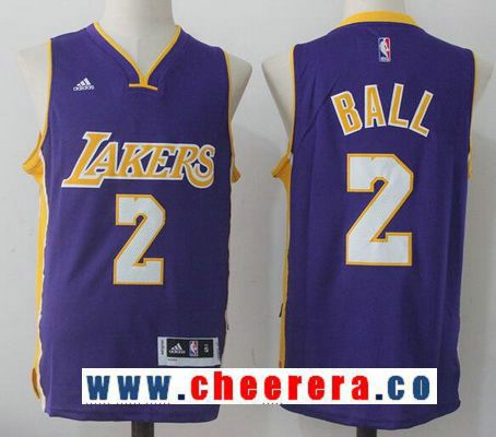 e281a68d3 Men s 2017 Draft Los Angeles Lakers  2 Lonzo Ball Purple Stitched NBA  adidas Revolution 30 Swingman Jersey