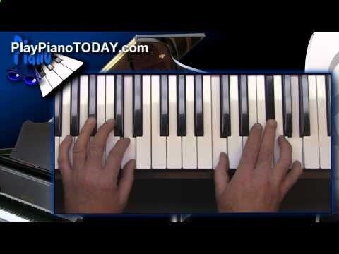 Blues Piano Lessons - The Full Chord Slide
