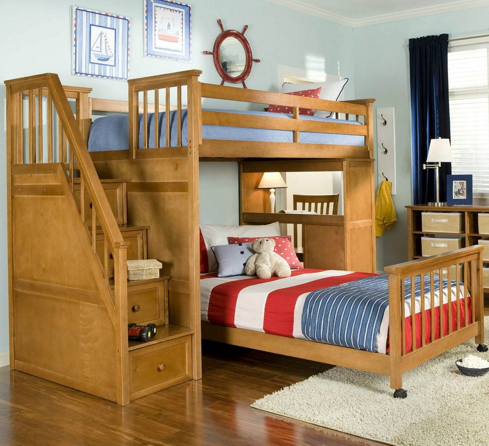 Double loft bed with desk   Double Bunk Bed with Desk  Interior Design Small Bedroom Check
