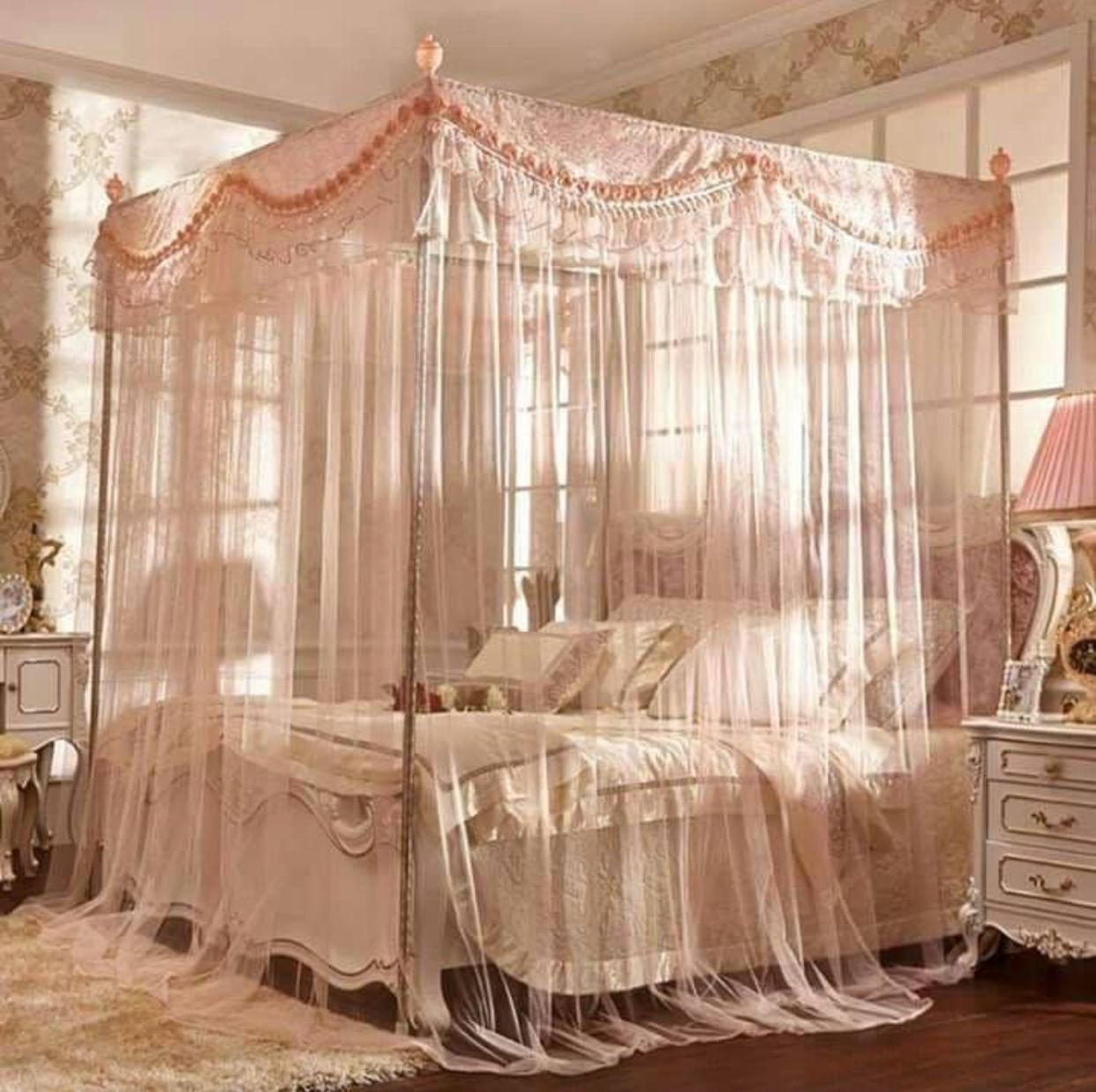 Pin by Penny on Cottage style Queen size canopy