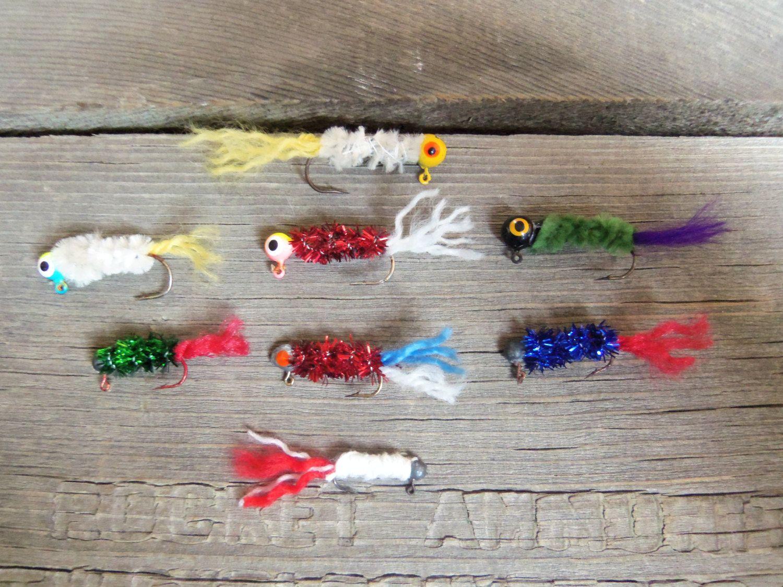 Handmade handtied custom crappie panfish fishing jigs for Crappie fishing jig