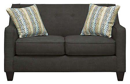 Best Axis Char Loveseat Art Van Furniture Navy Loveseat 400 x 300