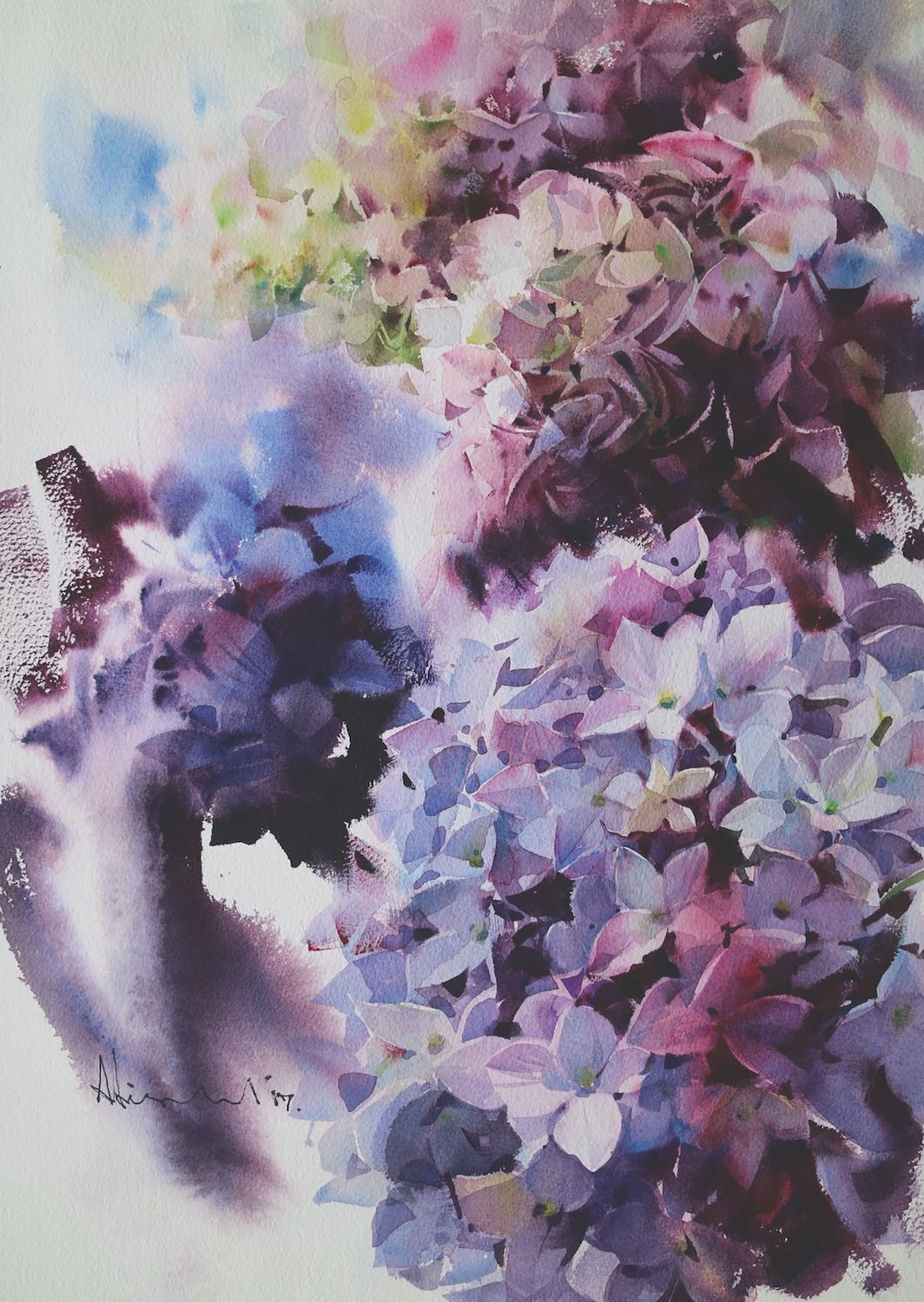 Paint Watercolor Flowers Of Every Kind Hydrangea Painting